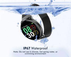 Smartwatch Umidigi Uwatch2 Relógio Inteligente Pulseira Metal Aço Prova da Agua