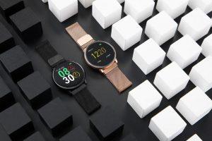 Smartwatch Umidigi Uwatch2 Relógio Inteligente Pulseira Metal Aço Dourado Preto