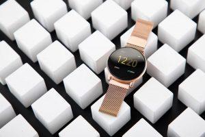 Smartwatch Umidigi Uwatch2 Relógio Inteligente Pulseira de Metal Aço Dourado