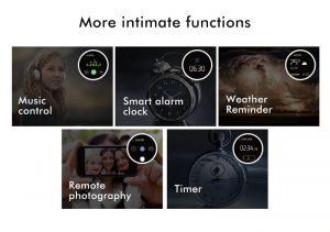 Smartwatch Umidigi Uwatch2 Relógio Inteligente Pulseira de Metal Funções