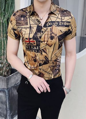 Camisa Masculina Importada Ouro Preto Luxo Luxury
