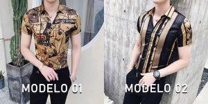 Camisa Masculina Importada Slim Fit Luxo Luxury Estilosa Moderna