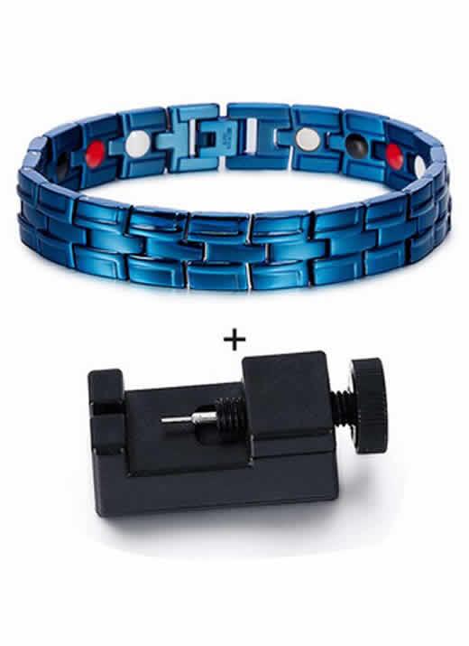 Pulseira Bracelete Magnética Bioenergética Azul