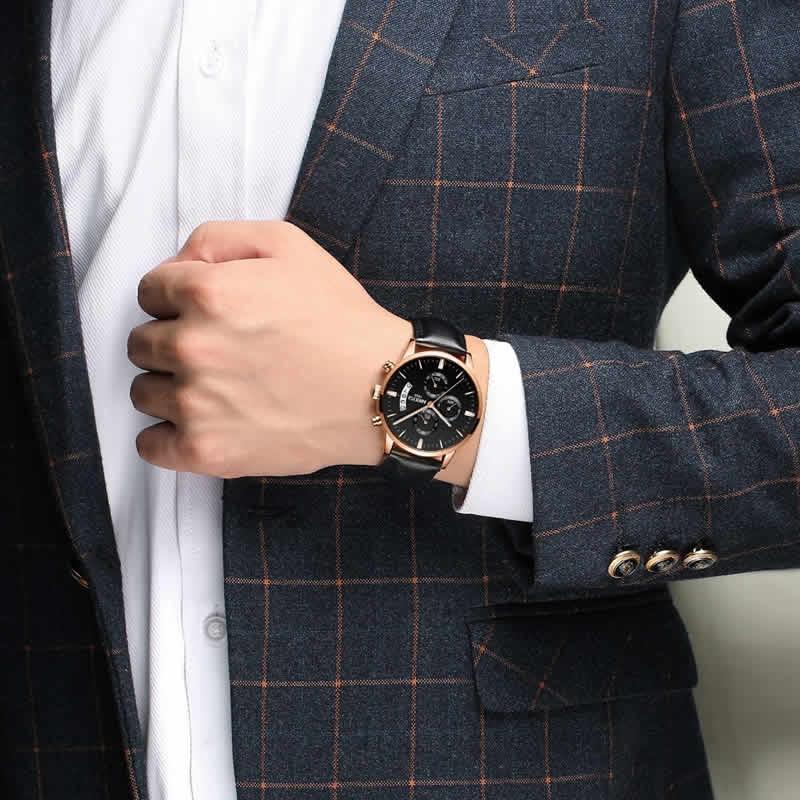 Relógio Blindado NIBOSI Inox Funcional Luxo