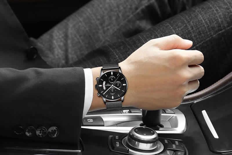 Relógio Blindado NIBOSI Inox Funcional Luxuoso