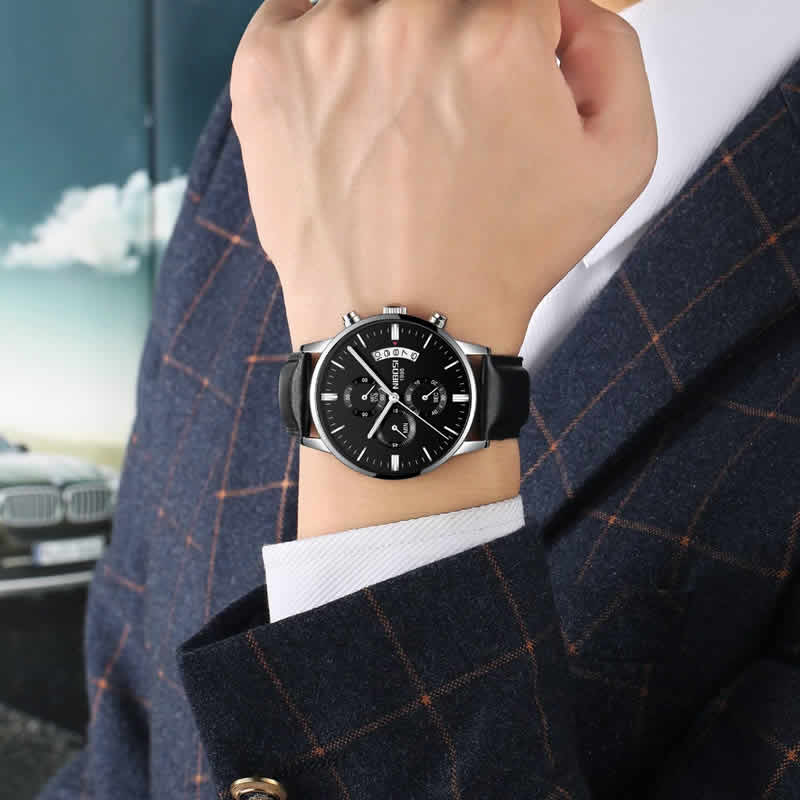 Relógio Blindado NIBOSI Inox Funcional Fashion