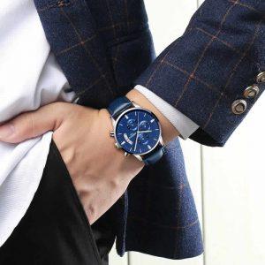 Relógio Blindado NIBOSI Inox Funcional Luxury