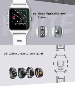 Relógio Smartwatch Makibes BR3 Com Gps para corrida e Strava Tela