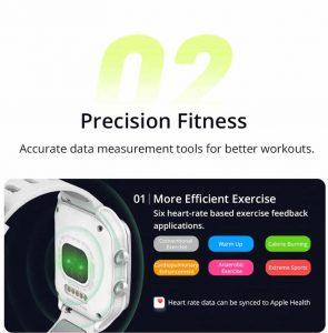 Relógio Smartwatch Makibes BR3 Com Gps para corrida e Strava Fitness