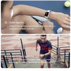 Relógio Smartwatch Makibes BR3 Com Gps para corrida e Strava Esportes