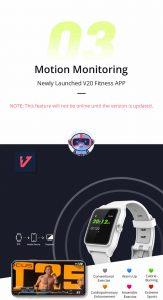 Relógio Smartwatch Makibes BR3 Com Gps para corrida e Strava APP