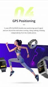 Relógio Smartwatch Makibes BR3 Com Gps para corrida e Strava GPS Psosição