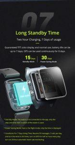 Relógio Smartwatch Makibes BR3 Com Gps para corrida e Strava Oled