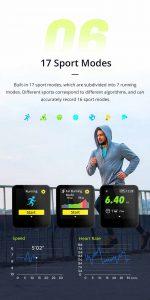 Relógio Smartwatch Makibes BR3 Com Gps para corrida e Strava Completo