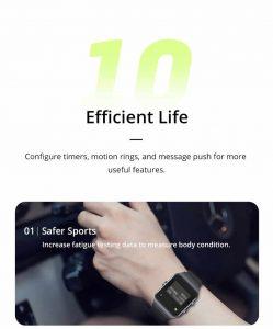 Relógio Smartwatch Makibes BR3 Com Gps para corrida e Strava Vida Eficiente