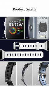 Relógio Smartwatch Makibes BR3 Com Gps para corrida e Strava Pulseira
