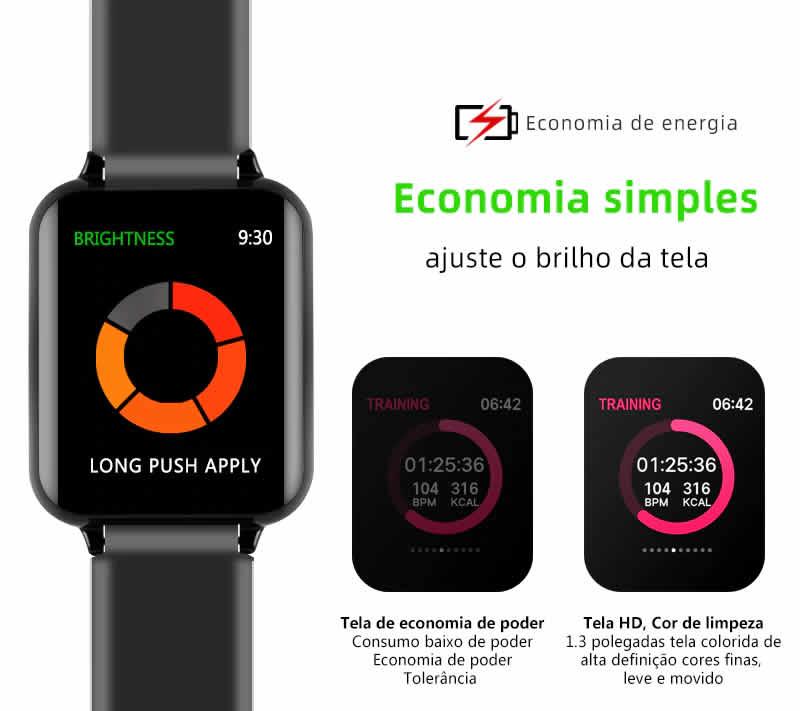 Relógio Unissex Smartwatch Hero Band B57 Relógio Inteligente iOS Android Economia