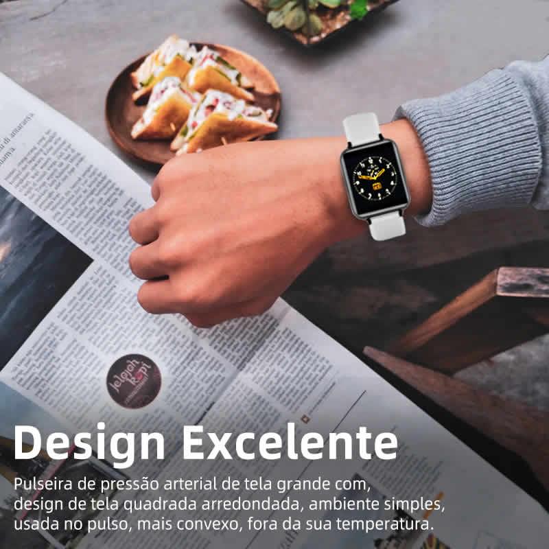 Relógio Unissex Smartwatch Hero Band B57 Relógio Inteligente iOS Android Design Excelente