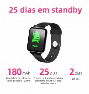 Relógio Unissex Smartwatch Hero Band B57 Relógio Inteligente iOS Android Durável