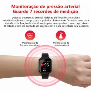 Relógio Unissex Smartwatch Hero Band B57 Relógio Inteligente iOS Android Medição de Pressão