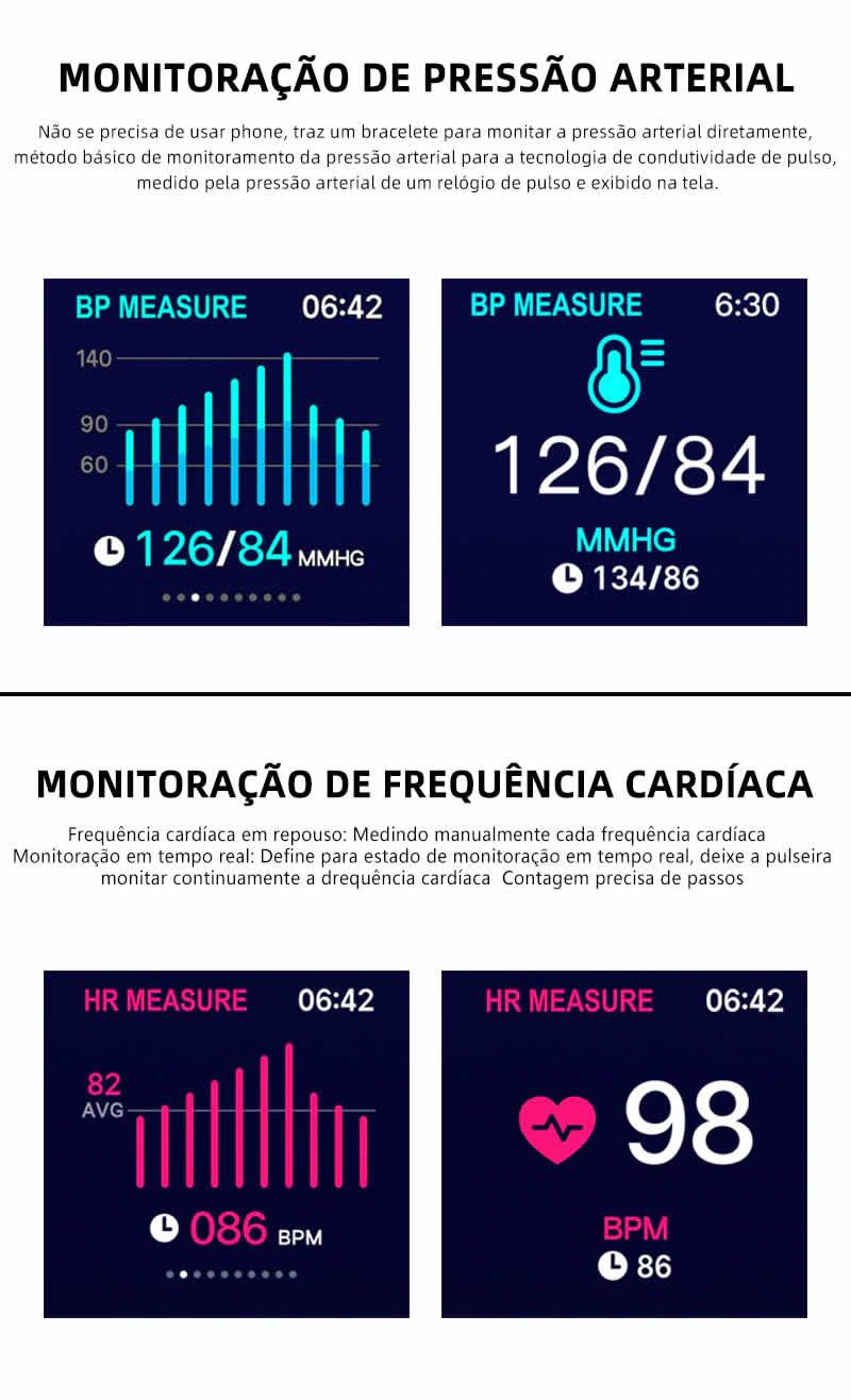 Relógio Unissex Smartwatch Hero Band B57 Relógio Inteligente iOS Android Gráficos