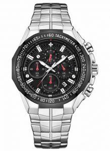 Relógio Masculino Cronógrafo Wwoor Luxo 6668 Prata Preta