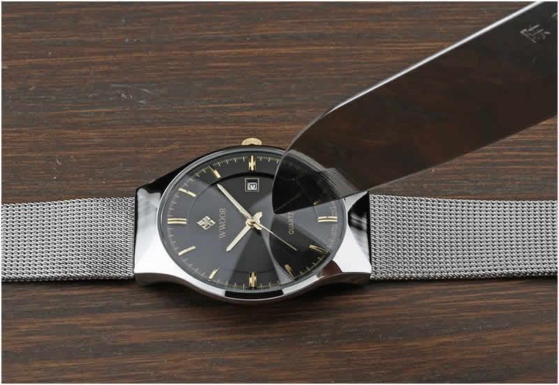 Relógio Masculino Wwoor 8016 Ultra Fino Quartzo Original Anti Risco