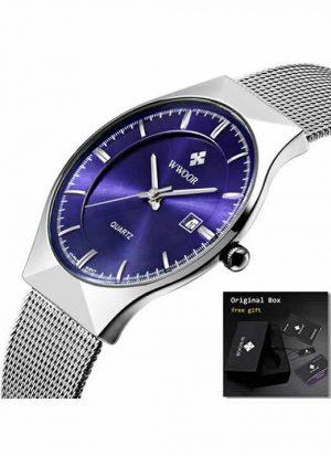 Relógio Masculino Wwoor 8016 Ultra Fino Quartzo Original