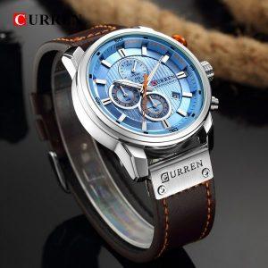 Relógio Currem 81291 Cronógrafo De Quartzo Desportivo Masculino Couro