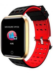 Relógio Smartwatch Eletrônico A8 Pró - Android e iOS - 43MM Vermelho