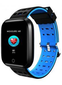 Relógio Smartwatch Eletrônico A8 Pró - Android e iOS - 43MM Azul
