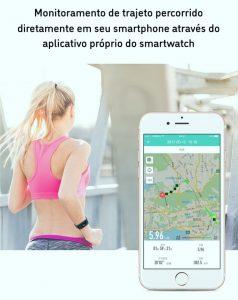 Relógio Smartwatch Eletrônico A8 Pró - Android e iOS - 43MM Google Maps Gps