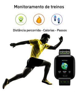 Relógio Smartwatch Eletrônico A8 Pró - Android e iOS - 43MM Monitoramento dos Treinos