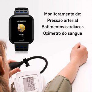 Relógio Smartwatch Eletrônico A8 Pró - Android e iOS - 43MM Monitoramento Oxigenação do Sangue