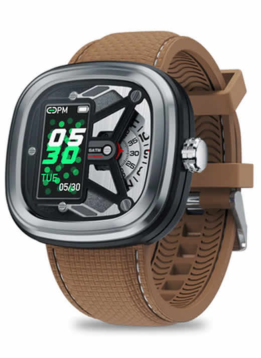 SmartWatch Relógio Eletrônico Zeblaze Hybrid 2 Marrom