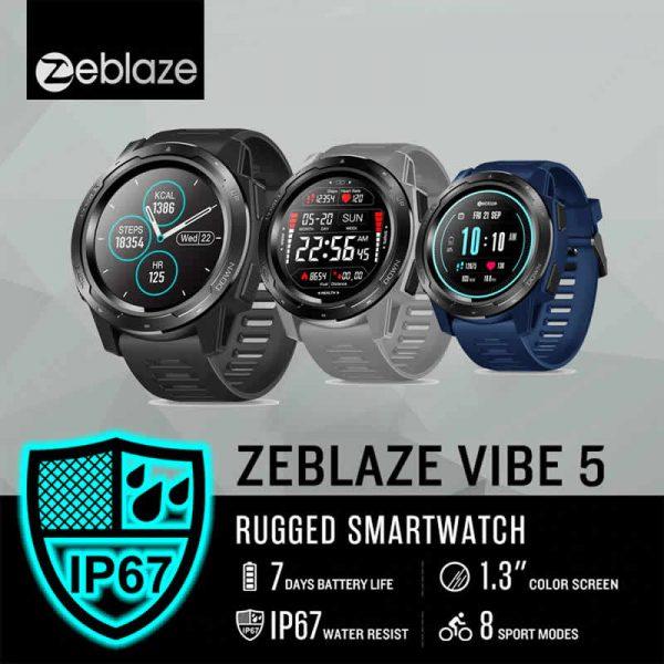 Smartwatch Relógio Eletrônico Zeblaze Vibe 5 - Para todos os momentos, desde seu exercício físico até seu encontro especial.100% compatível com sistema iPhone e Android.