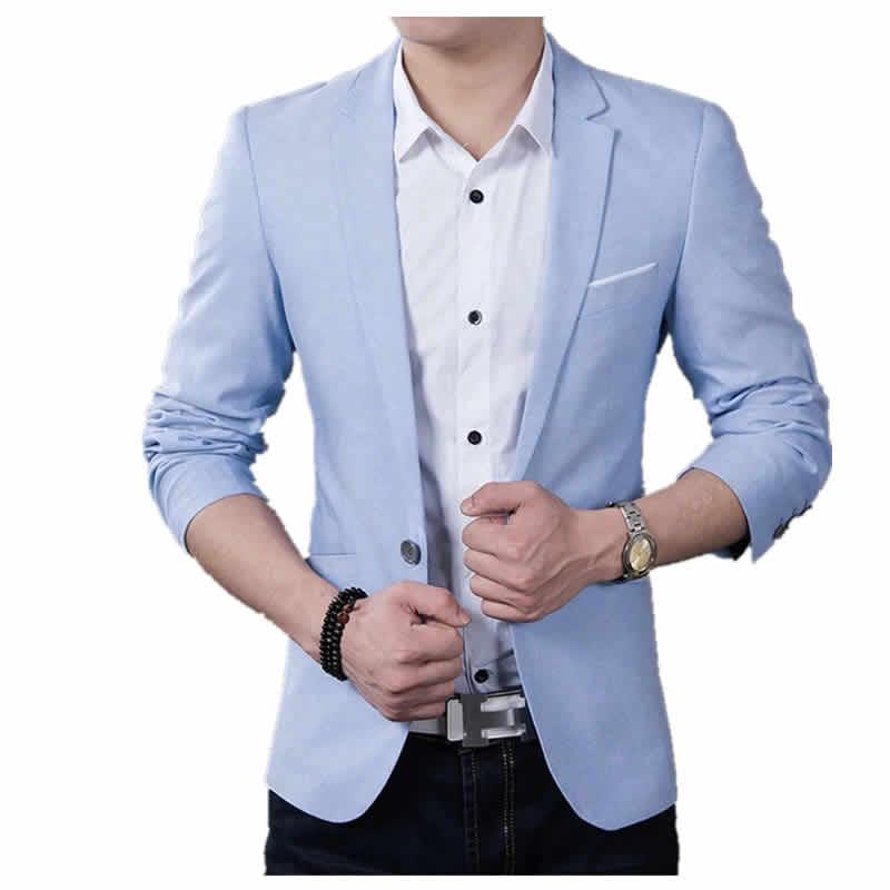 Blazer Masculino Classico Azul