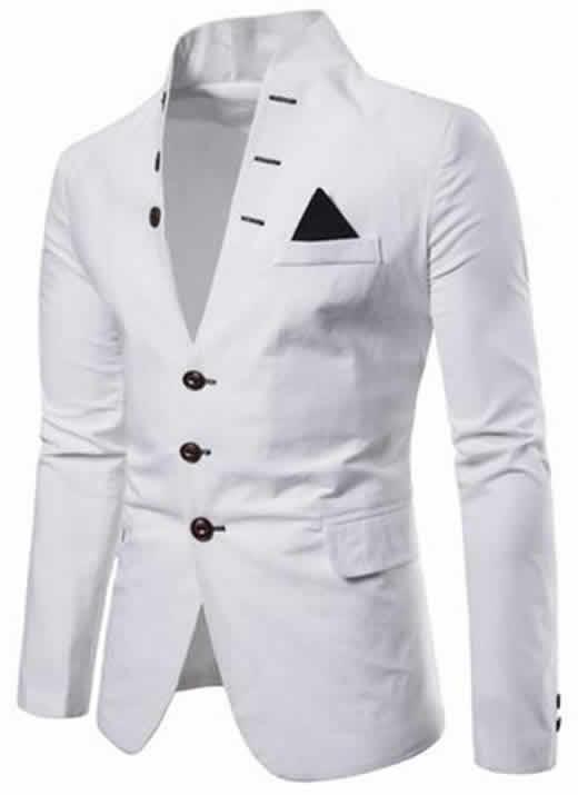 Blazers Masculinos Moderno Slim Fit - Escolha entre várias cores Preto, Branco, Vermelho, Azul e Bege. Tamanhos P, M, G e GG Slim Fit Estiloso.