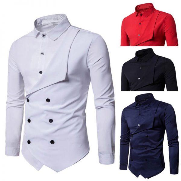 Camisa Duas Frente Importada Masculina Slim Fit Cores