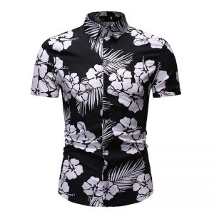 Camisa Florida Masculina Importada Feitong Estilosa