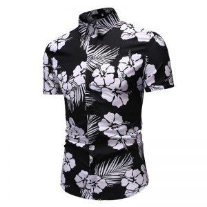 Camisa Florida Masculina Importada Feitong Slim Fit