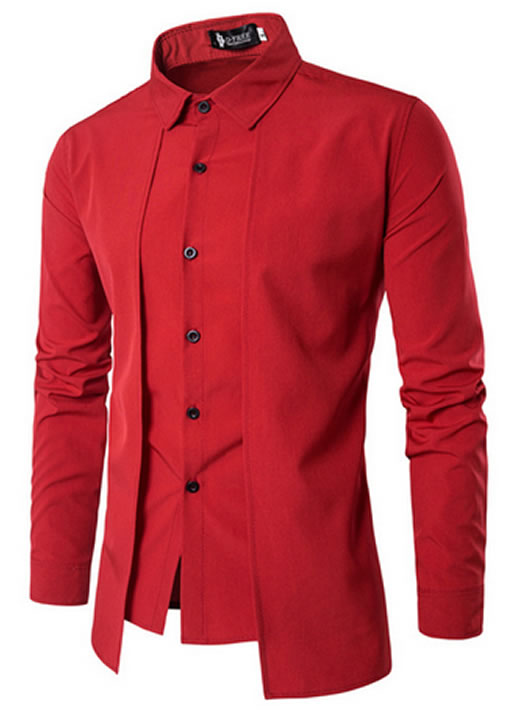 Camisa Zooga Slim Fit Importada Estilosa Manga Longa Vermelha