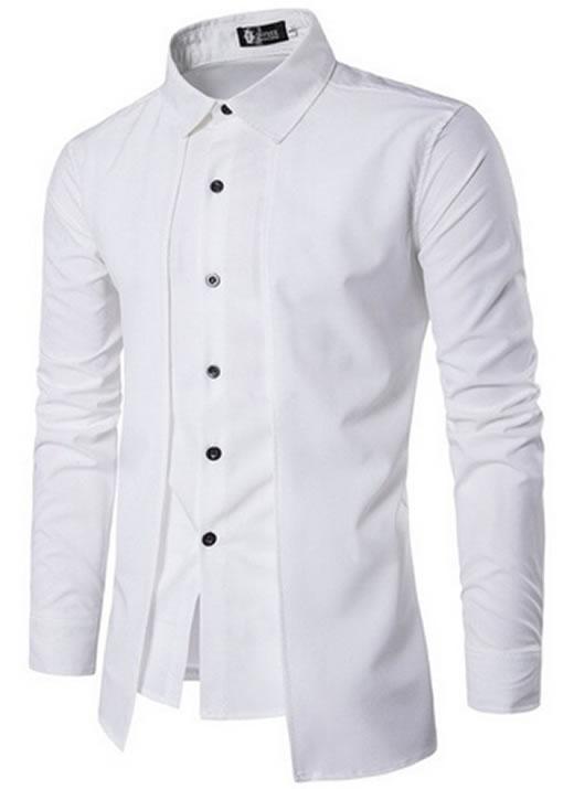 Camisa Zooga Slim Fit Importada Estilosa Manga Longa Branca