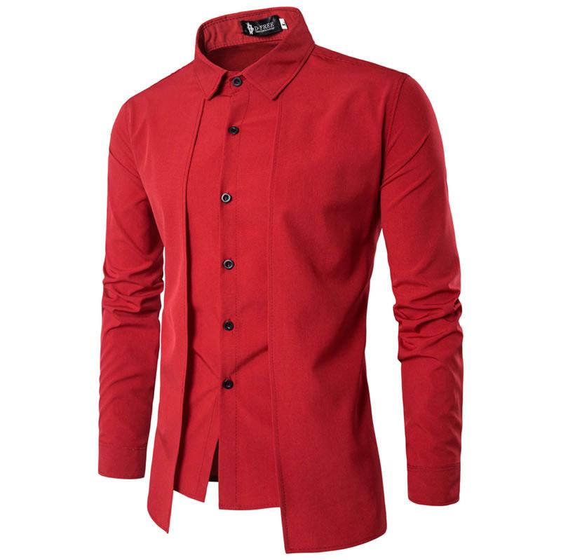 Camisa Zooga Slim Fit Importada Estilosa Manga Longa Vermelha Frente