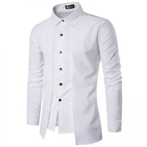 Camisa Zooga Slim Fit Importada Estilosa Manga Longa Branca Frente