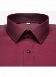 Camisa Social Masculina Vinho Vermelha Bordô