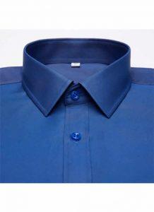 Camisa Social Masculina Azul Escuro