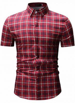 Camisas Xadrez Vermelha Listrada
