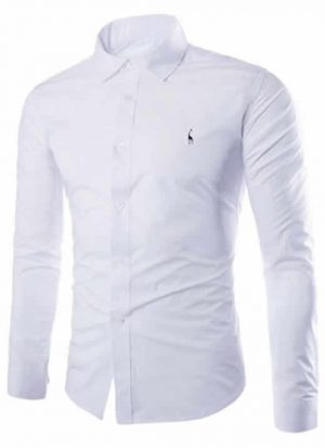 Camisas Sociais Grf Giraffe Manga Longa Branca