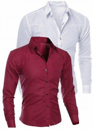 Camisas Importadas Branca Vinho